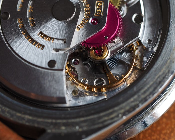 movement of a vintage rolex