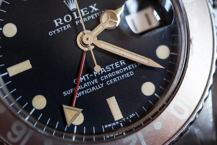 dial rolex gmt master 1675
