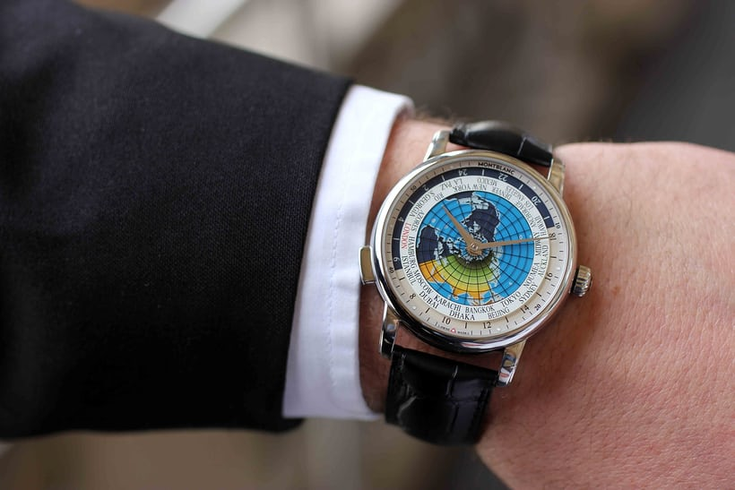 Montblanc 4810 Orbis Terrarum on the wrist