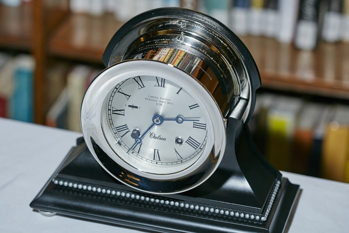 Chelsea Ship's Bell Clock presented to HSNY by the American Watchmakers-Clockmakers Institute and Chelsea Clock