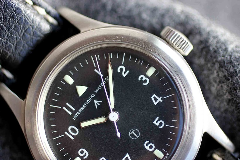 IWC Mark XI second dial closeup