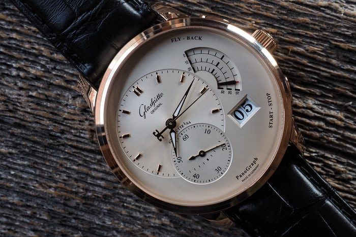 Glashütte Original Panograph dial side
