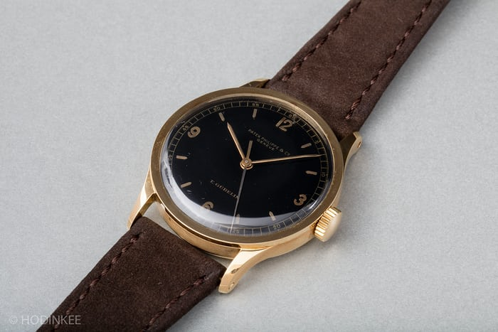 patek 570 black dial yellow gold