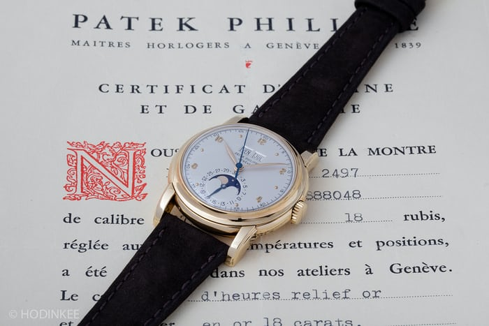 Patek Philippe Perpetual Calendar 2497 With Box And Papers