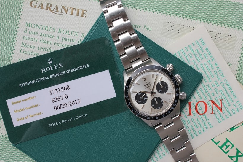 Rolex Daytona Reference 6263 With Papers