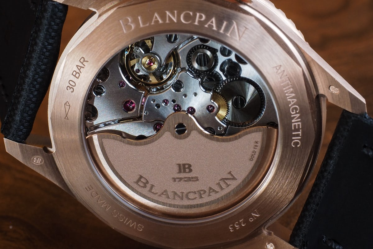 Blancpain Fifty Fathoms Sedna Gold movement
