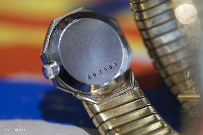 Case Back of the Bvlgari x Vacheron Constantin Octagonal Tubogas Watch, Circa 1960s