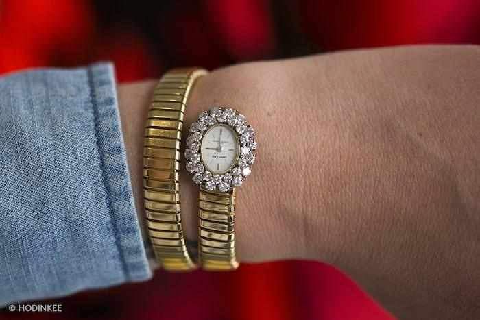 Bvlgari x Vacheron Constantin Yellow Gold and Diamond Tubogas Watch, Circa 1960s