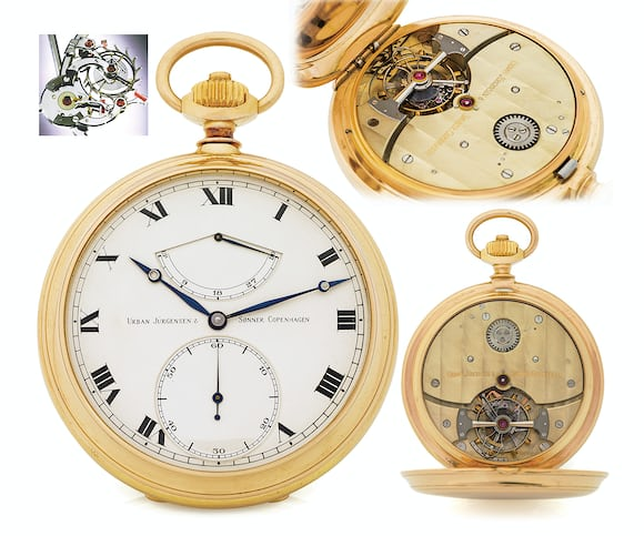 Derek Pratt Tourbillon with remontoire Seven Pocket Watches That Will Make You Forget Wristwatches (And Wonder Why They've Gotten So Pricey) From The Antiquorum 'Important Modern & Vintage Timepieces' Auction Seven Pocket Watches That Will Make You Forget Wristwatches (And Wonder Why They've Gotten So Pricey) From The Antiquorum 'Important Modern & Vintage Timepieces' Auction e2