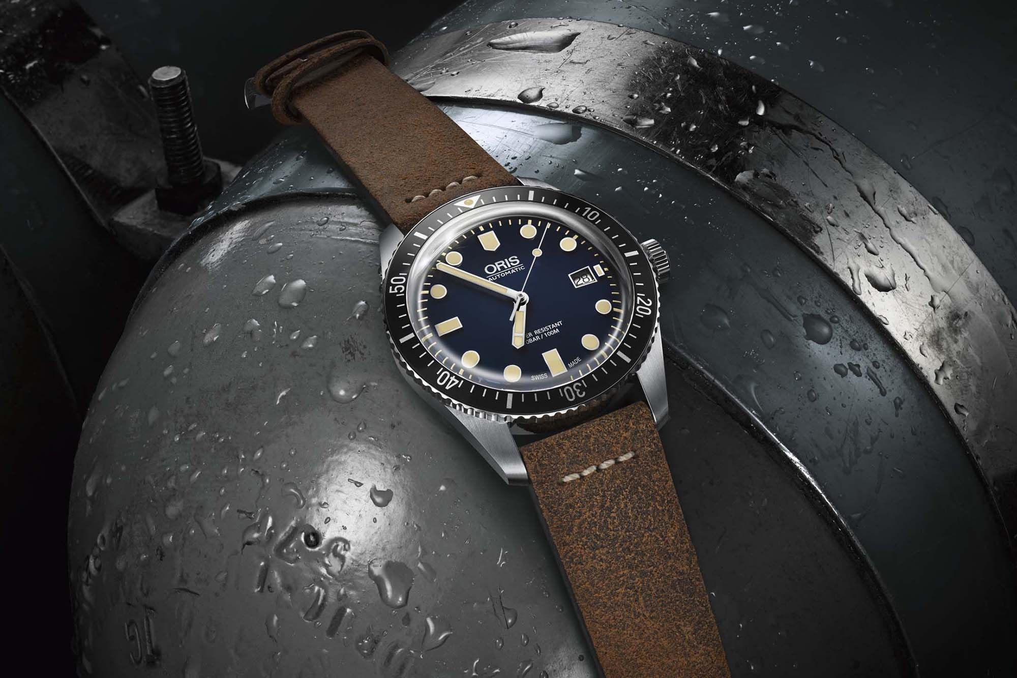 Oris Divers Sixty-Five leather strap Introducing: Three New Divers From Oris – One Heritage Update, And Two Limited Editions Supporting Good Causes Introducing: Three New Divers From Oris – One Heritage Update, And Two Limited Editions Supporting Good Causes 2