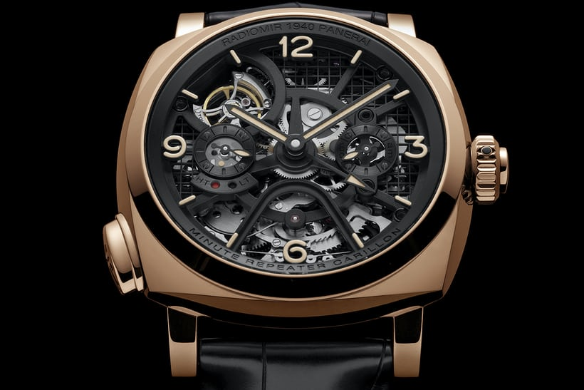 Radiomir 1940 Minute Repeater Carillon Tourbillon GMT dial