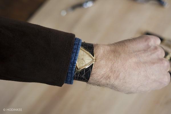 Patek Philippe Reference 3412 By Gilbert Albert wrist