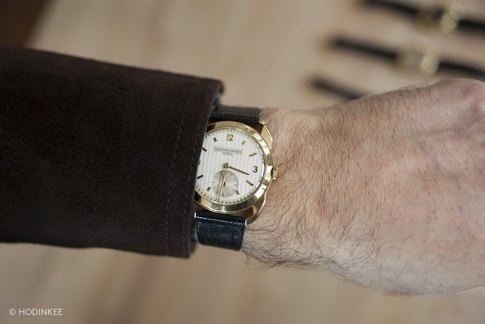 Vacheron Constantin With Guilloche Dial And Claw Lugs wrist shot