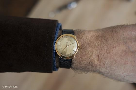 Asymetrical Audemars Piguet From The 1960s wrist shot