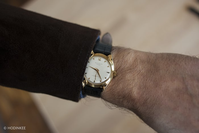 Gold Patek Philippe With Markowski Case wrist shot