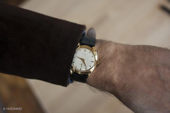 Gold Patek Philippe With Markowski Case wrist shot