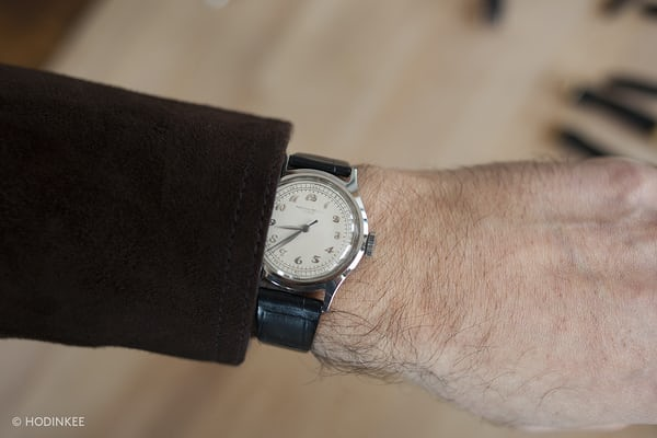 Patek Philippe Reference 565 In Steel With Breguet Numerals wrist