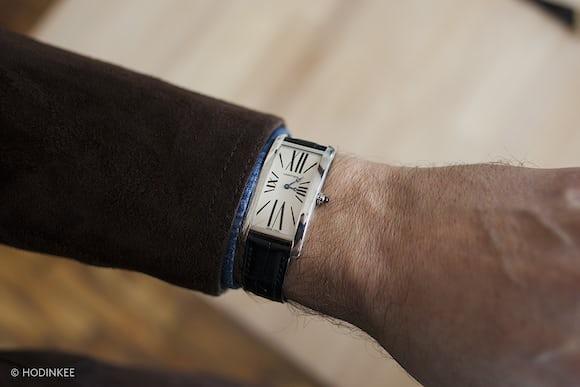 Cartier Tank Cintrée With Special Dial wrist shot