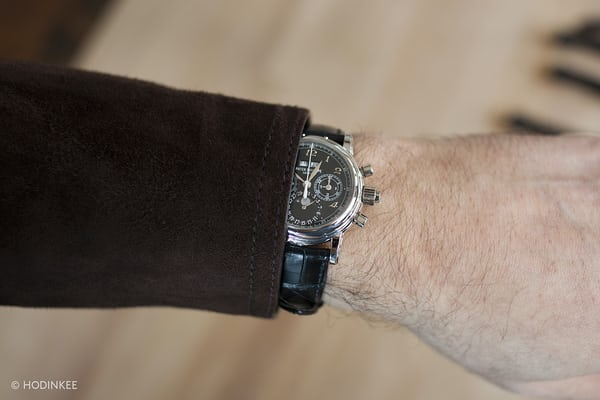 Patek Philippe Reference 5004P With Breguet Numerals wrist shot