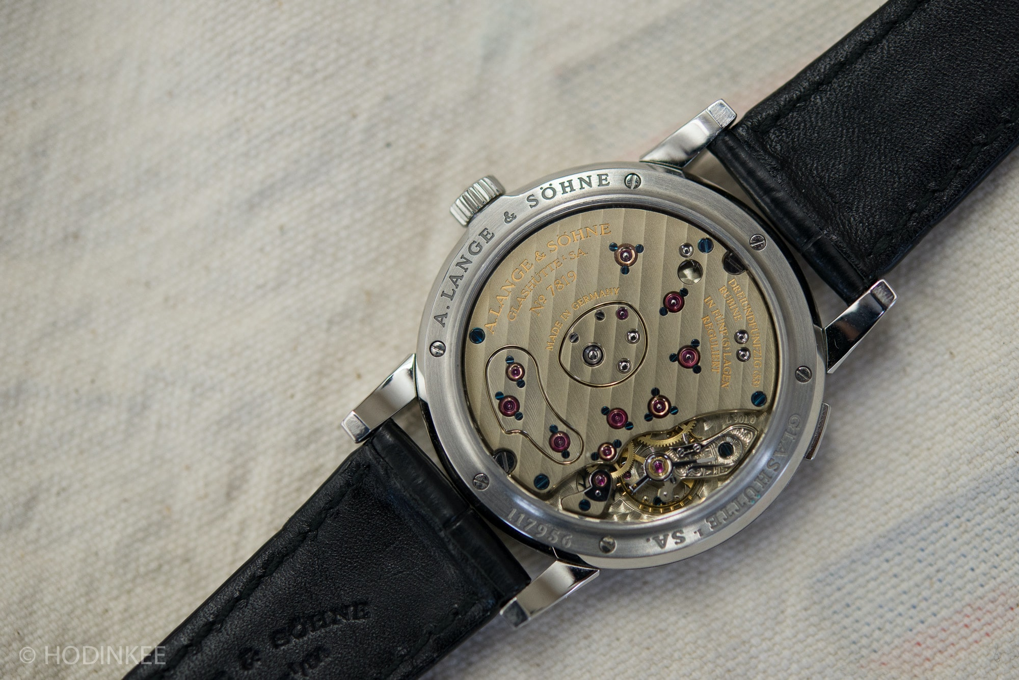 Breaking News: Christie's To Offer Mega Rare Steel Lange 1 With Black Dial In June (Live Pics, Estimates) Breaking News: Christie's To Offer Mega Rare Steel Lange 1 With Black Dial In June (Live Pics, Estimates) Lange1SteelBlackDial 2