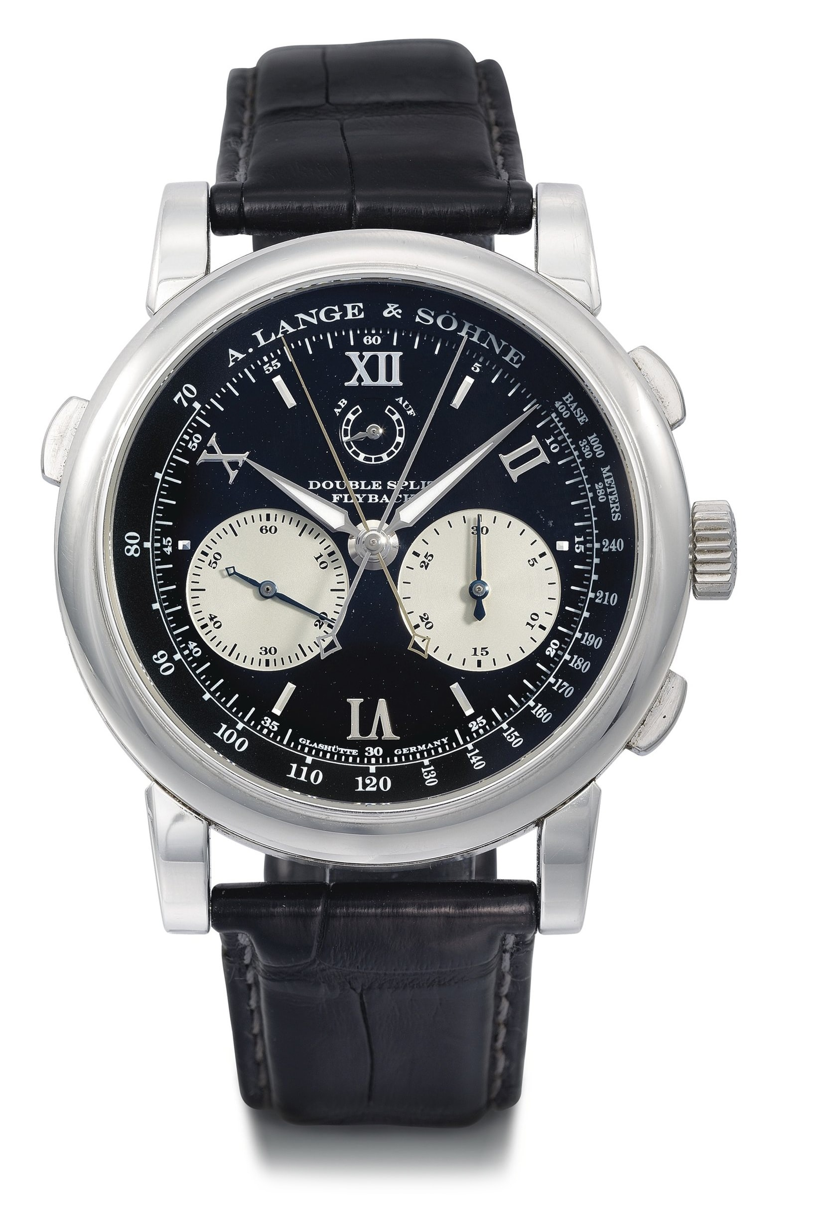 The only known Double-Split in steel brought $501,000 in 2013. Breaking News: Christie's To Offer Mega Rare Steel Lange 1 With Black Dial In June (Live Pics, Estimates) Breaking News: Christie's To Offer Mega Rare Steel Lange 1 With Black Dial In June (Live Pics, Estimates) b
