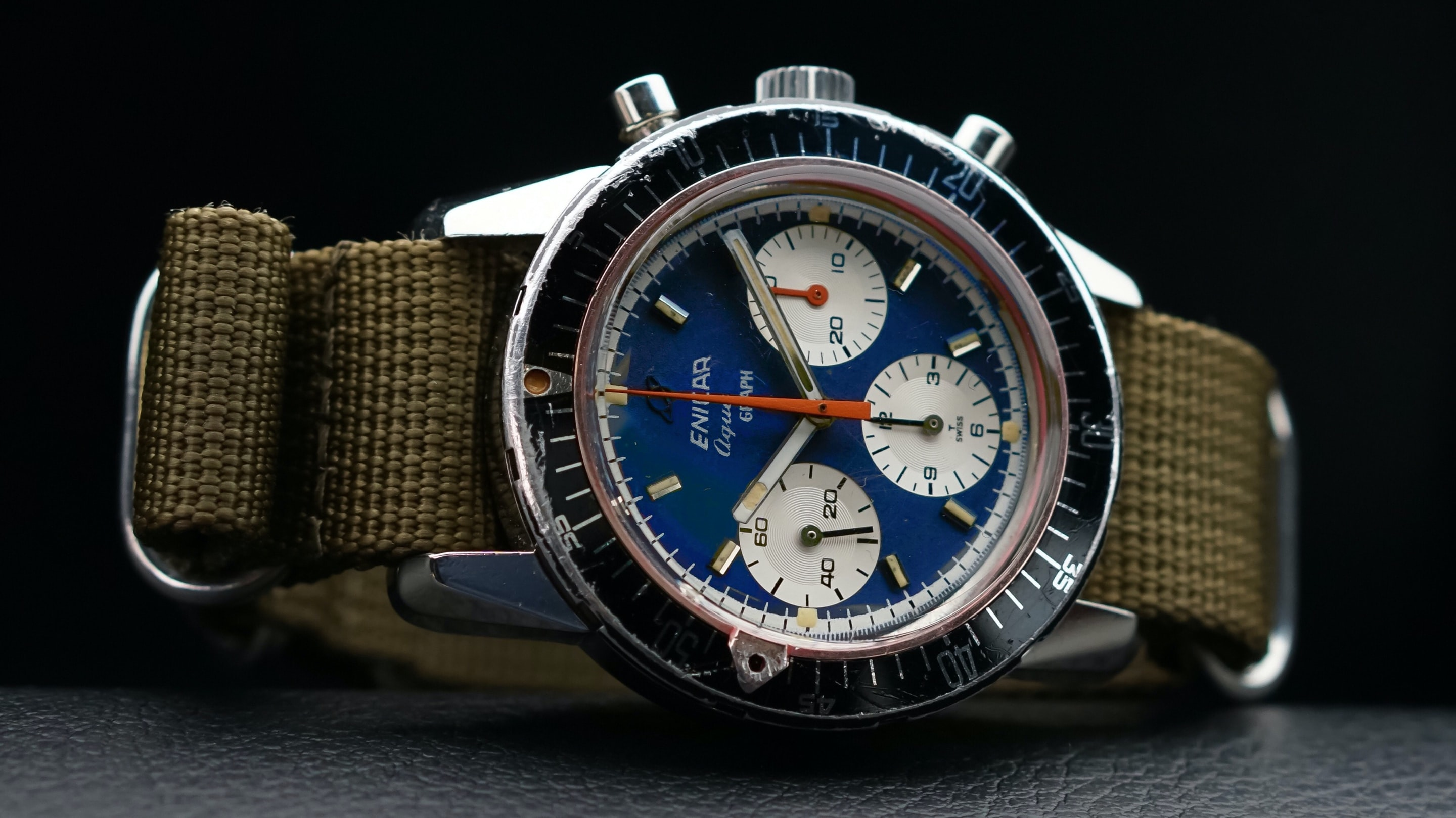 Bring a Loupe: Beautiful Vintage Chronographs From Mido, Gallet, Heuer, And More Found On EBay