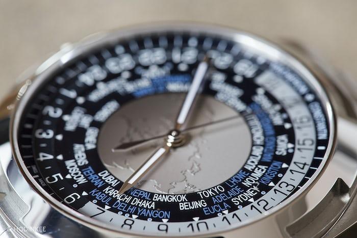 The Vacheron Constantin Overseas World Time dial oblique