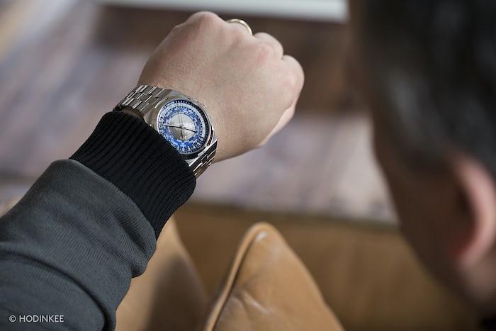 The Vacheron Constantin Overseas World Time wrist shot