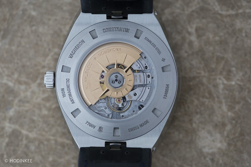 The Vacheron Constantin Overseas World Time caseback and movement