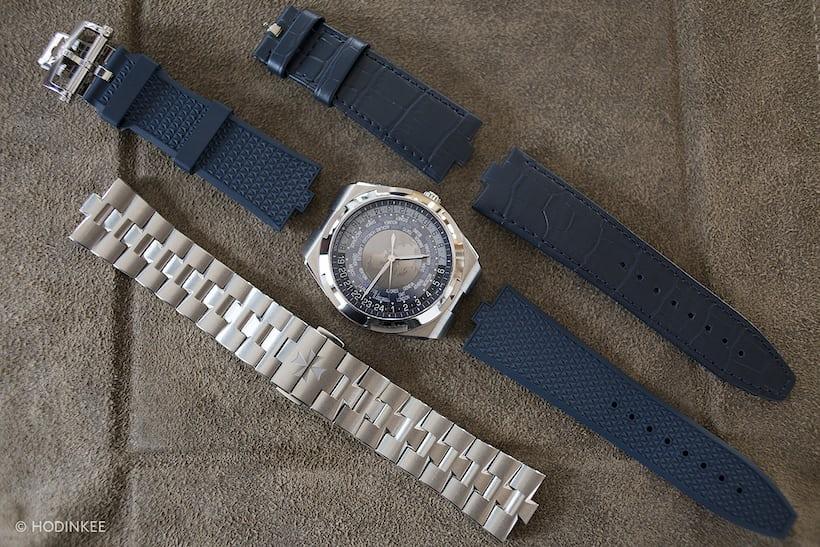 The Vacheron Constantin Overseas World Time straps
