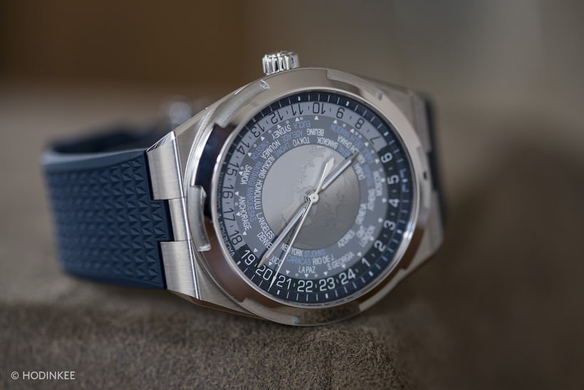 The Vacheron Constantin Overseas World Time on rubber strap