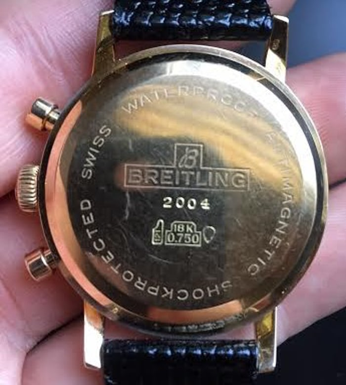 Breitling Top Time Reference 2004 Case Back