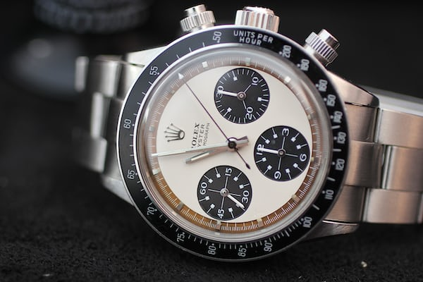 "Lot 34 - Rolex Oyster Cosmograph, ""Paul Newman Panda"", 6263; Sold for CHF929,000"