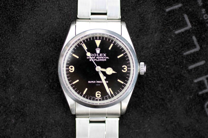 Lot 102  Rolex Explorer Super Precision 5500 with Air King case