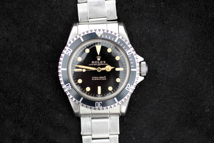 Double Swiss Rolex Submariner 5513. Sold for CHF137,000