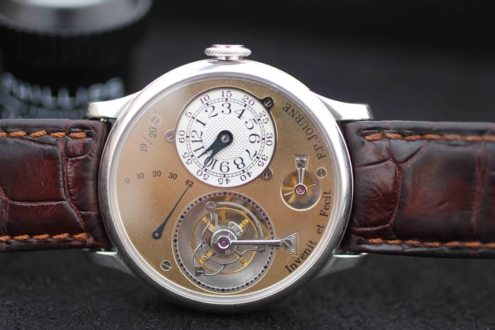 Lot 158 - F.P. Journe Tourbillon Souverain, Platinum, 1999