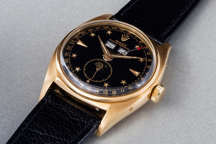 Lot 192 – Rolex Yellow-Gold 'Stelline' Reference 6062