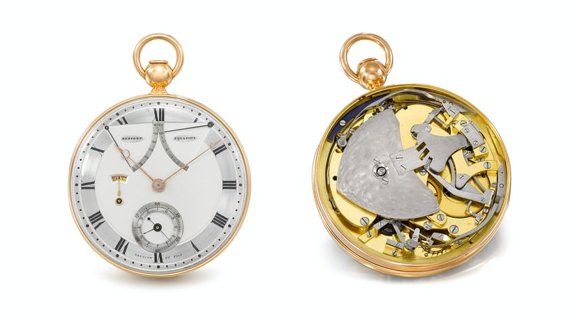The N°1 lot of the day: An Equation Of Time pocket watch made by Breguet in 1800.
