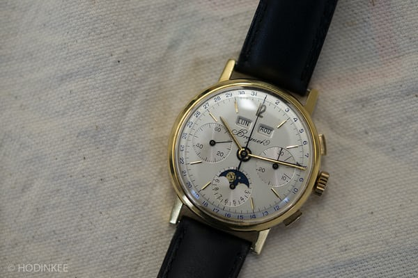 Lot 130: A Breguet Triple Calendar Chronograph.