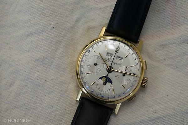 Lot 130: A Breguet Triple Calendar Chronograph.