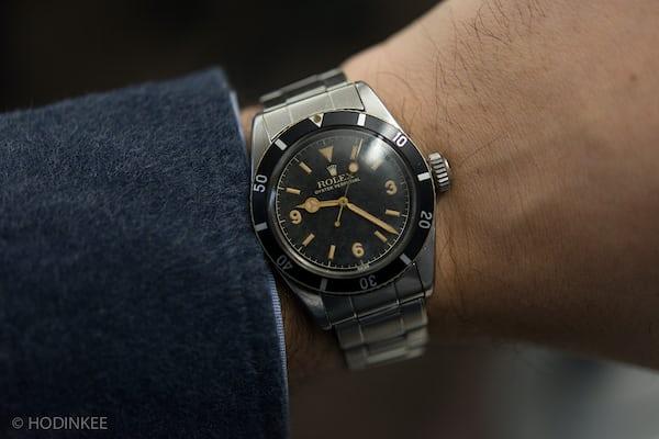 Lot 272: A mint condition Rolex Ref. 6200 with 3-6-9 Explorer dial
