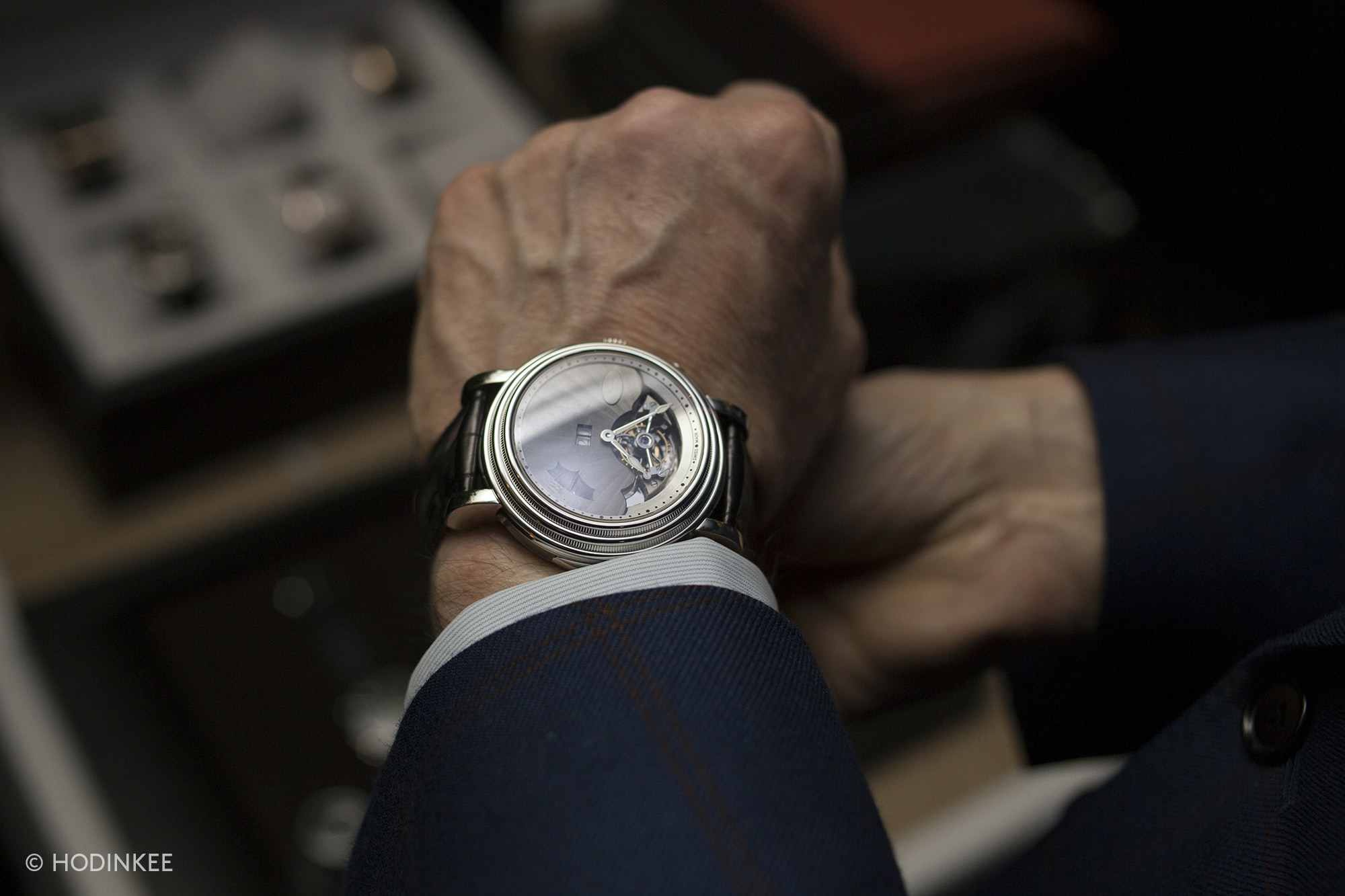 Toric Westminster Grand Date in platinum. Photo Report: A Collectors' Dinner With Parmigiani Fleurier Photo Report: A Collectors' Dinner With Parmigiani Fleurier 20010679 copy