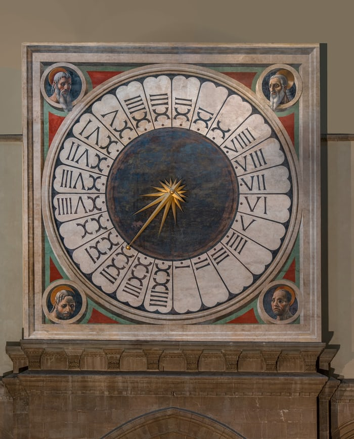 Duomo Florence face of the great clock, decorated by Paolo Uccello
