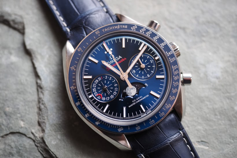Omega Speedmaster Moonphase Master Chronometer Chronograph steel