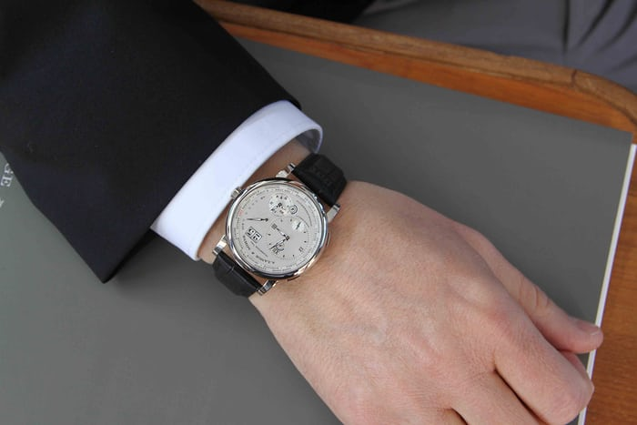 A. Lange & Söhne Lange 1 Time Zone in platinum