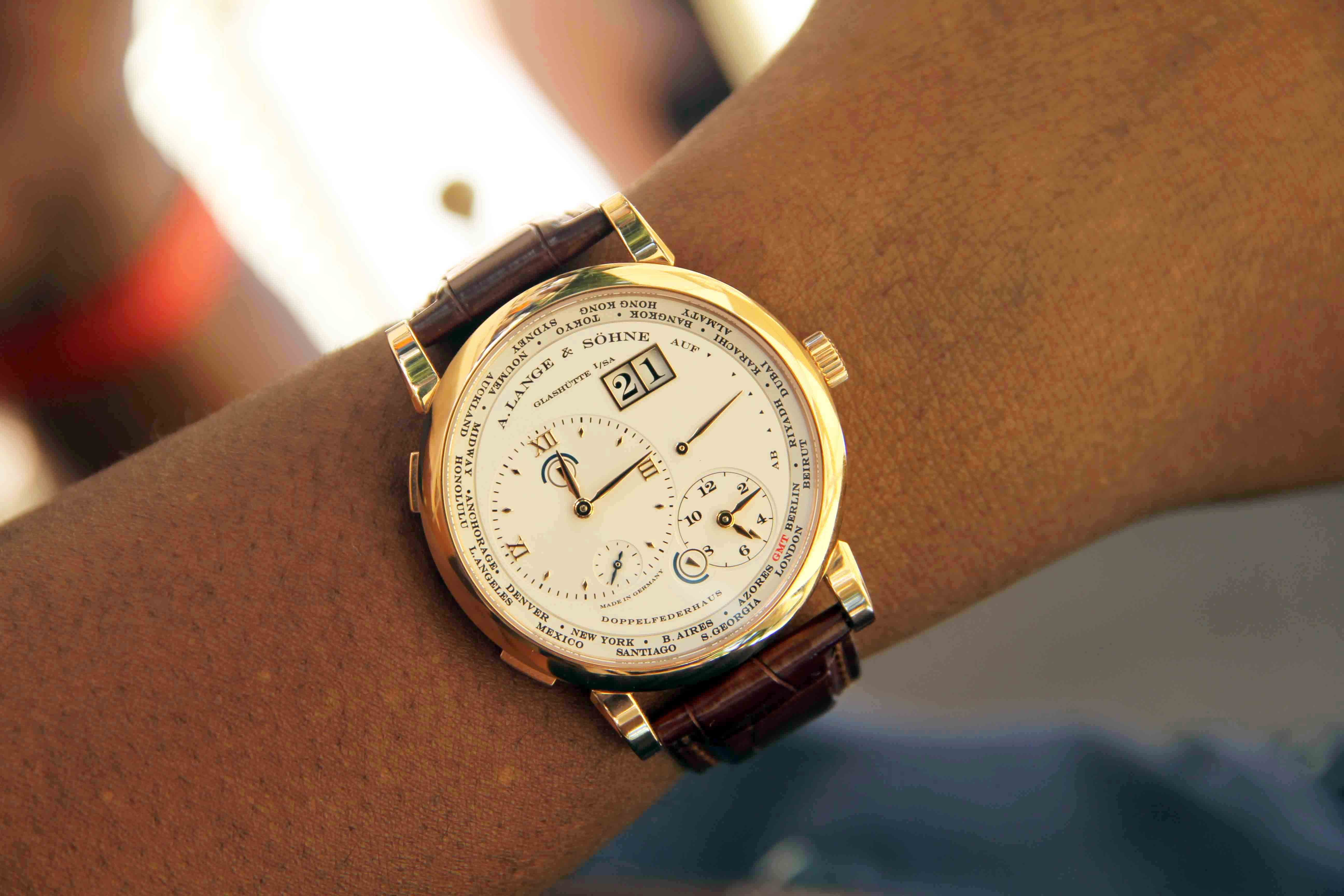 A. Lange & Söhne Lange 1 Time Zone.  Photo Report: Watch And Car Spotting At The 2016 Concorso d'Eleganza Villa d'Este With A. Lange & Söhne Photo Report: Watch And Car Spotting At The 2016 Concorso d'Eleganza Villa d'Este With A. Lange & Söhne IMG 5179