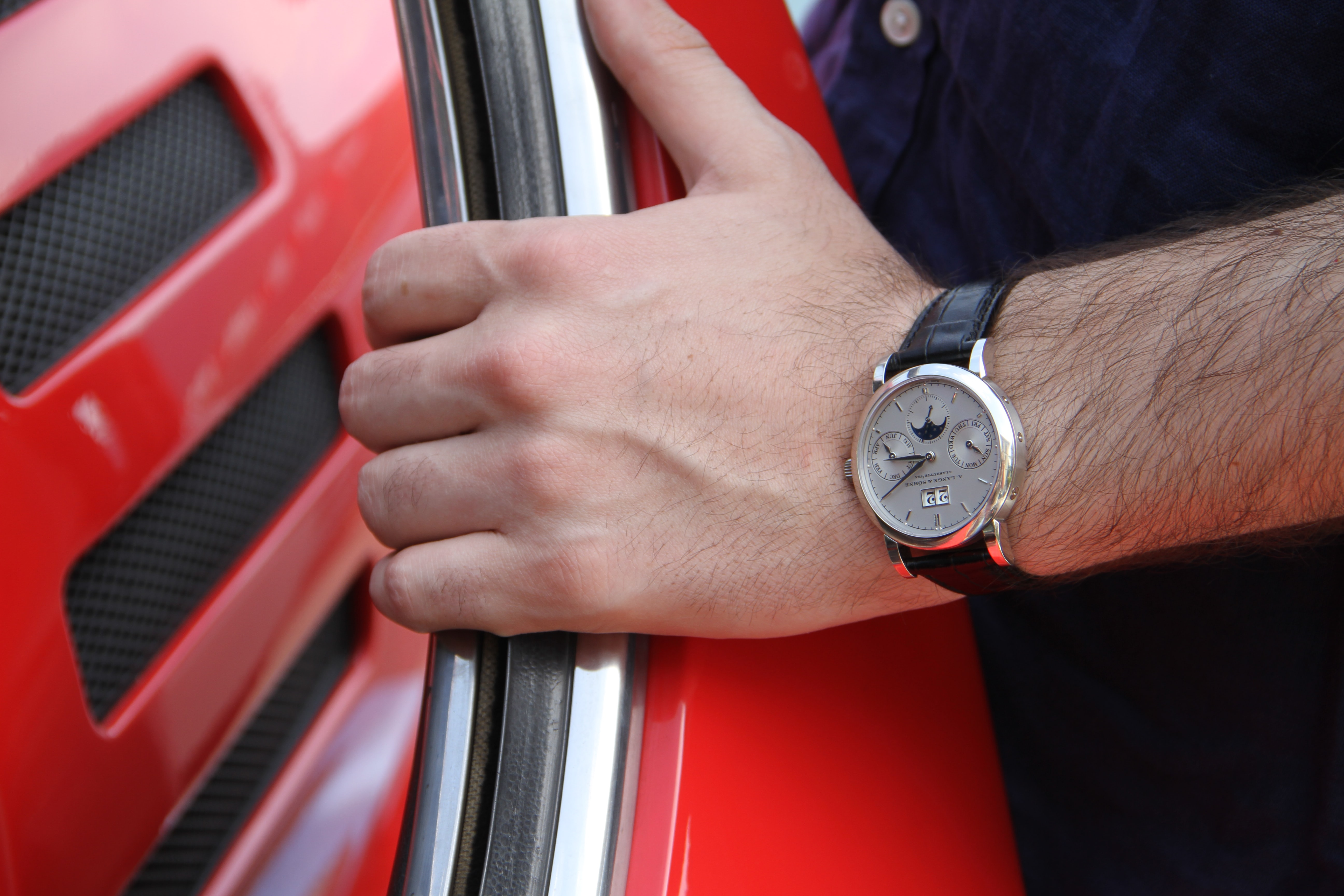 On my wrist, the A. Lange & Söhne Saxonia Annual Calendar in platinum. Photo Report: Watch And Car Spotting At The 2016 Concorso d'Eleganza Villa d'Este With A. Lange & Söhne Photo Report: Watch And Car Spotting At The 2016 Concorso d'Eleganza Villa d'Este With A. Lange & Söhne IMG 5971