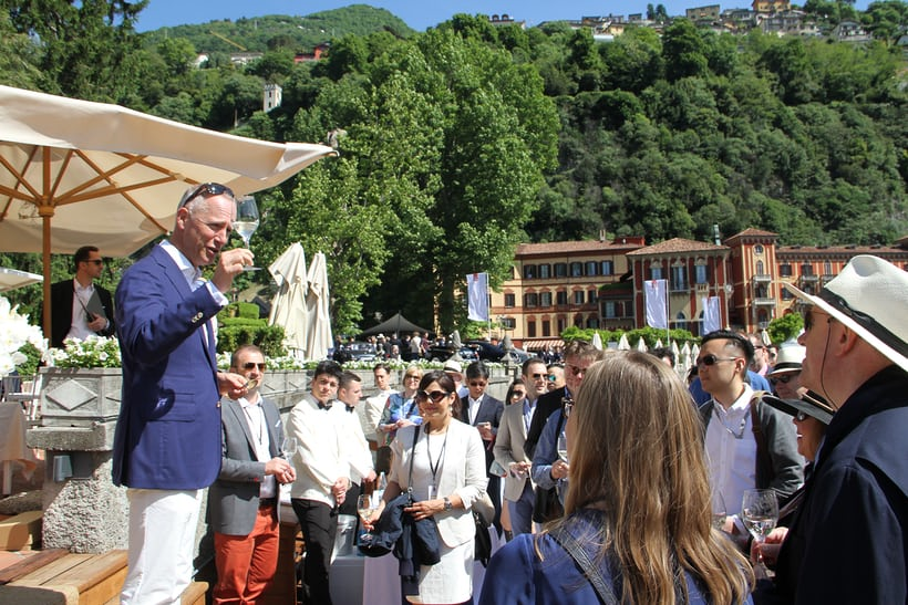 A. Lange & Söhne CEO Wilhelm Schmid welcomed guests to Villa d'Este