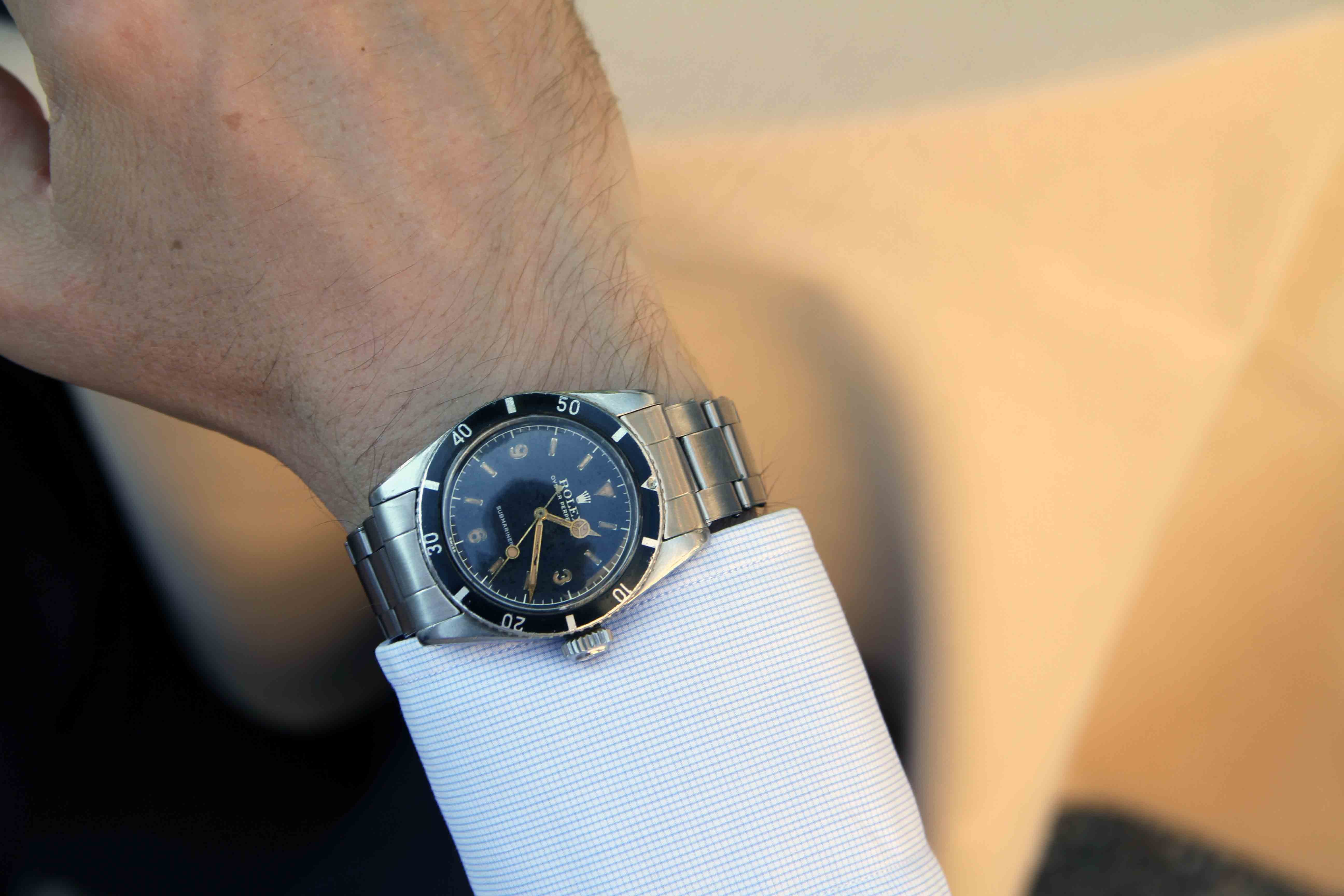 Rolex Submariner reference 6200. Photo Report: Watch And Car Spotting At The 2016 Concorso d'Eleganza Villa d'Este With A. Lange & Söhne Photo Report: Watch And Car Spotting At The 2016 Concorso d'Eleganza Villa d'Este With A. Lange & Söhne 2