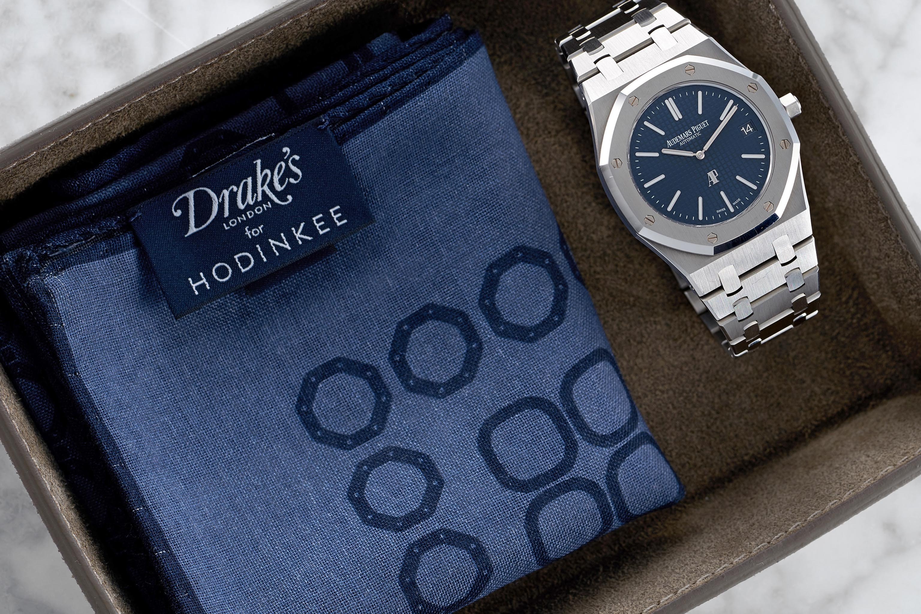 Introducing: The Drake's For HODINKEE 2016 Limited Edition Genta Pocket Square Introducing: The Drake's For HODINKEE 2016 Limited Edition Genta Pocket Square PocketSquare lifestyle2 copy